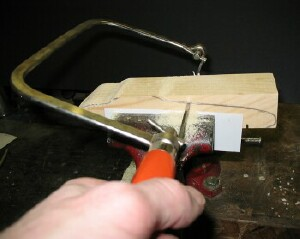 how to cut a pinewood derby car without a bandsaw